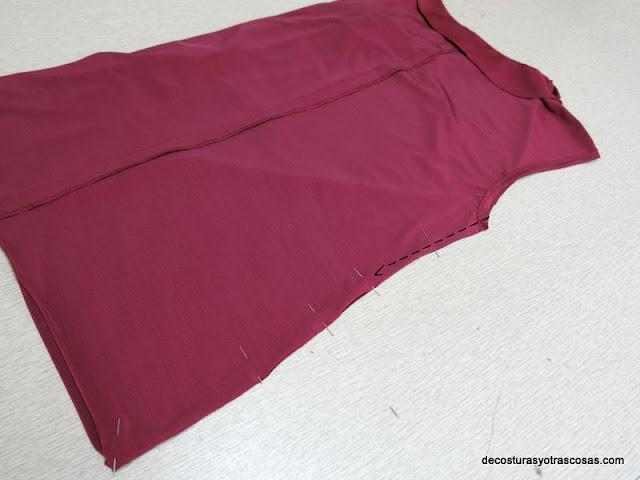 como coser una blusa sin mangas