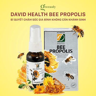 Keo ong xịt họng david heath bee propolis canada