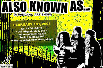 Also Known As Bandana Art Show Flier