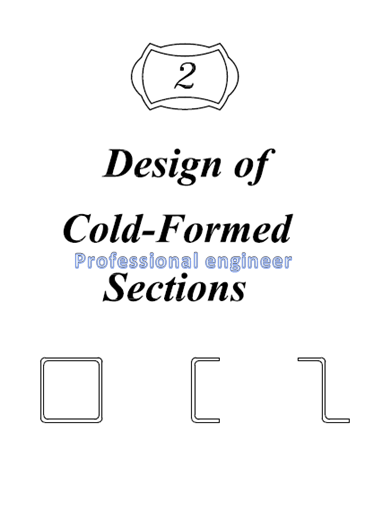 chapter 2 : design of cold formed sections