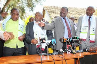 Musalia Mudavadi welcomed Hon. Kipruto Kirwa. PHOTO   Courtesy FB