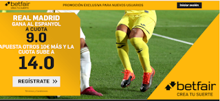 betfair supercuota Espanyol v Real Madrid 28-6-2020