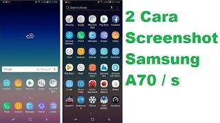 Screenshot di hp samsung a70 dan Samsung a70s