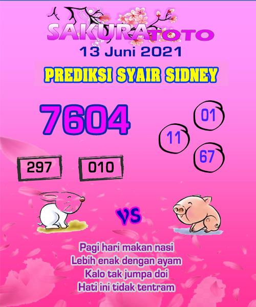 Syair Sakuratoto Sidney Minggu 13 Juni 2021