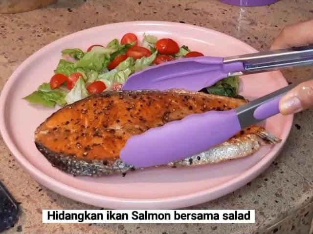 Resepi Salmon with Lemon Butter Sauce dengan butter Anchor