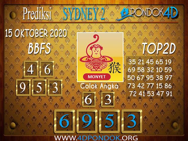 Prediksi Togel SYDNEY 2 PONDOK4D 15 OKTOBER 2020