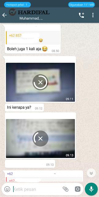 Whatsapp tidak bisa menerima gambar