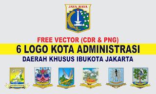 Free Vector Logo 6 Kota Administrasi DKI Jakarta PNG
