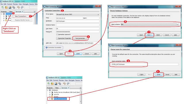 SQL Server Connection Process in Netbeans