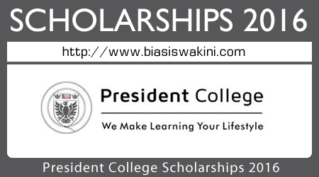 President College Scholarships 2016