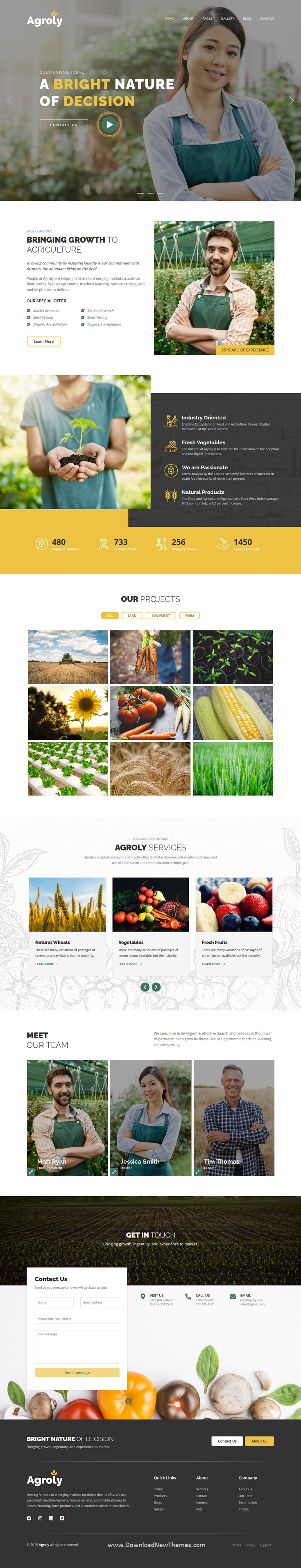Organic & Agriculture Food HTML Template