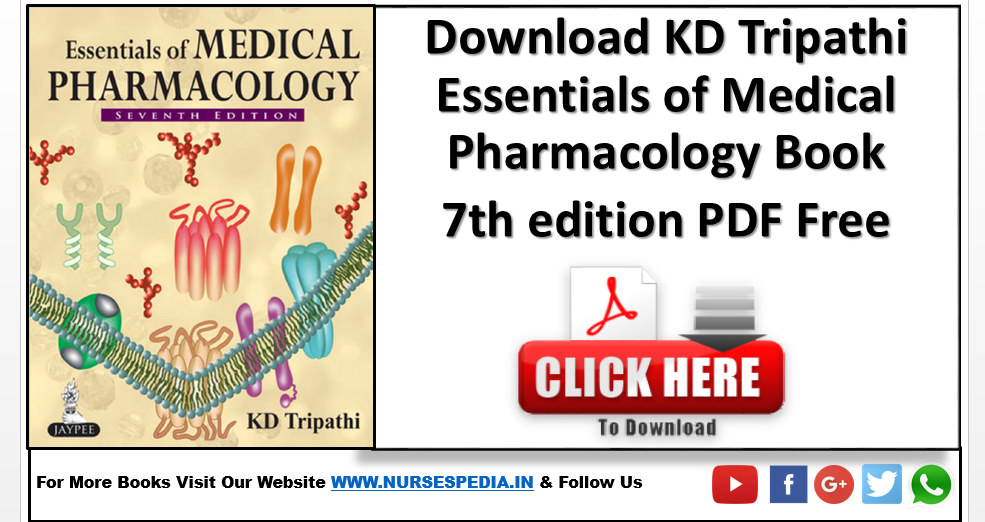 Kd Tripathi Pharmacology 7th Edition Pdf