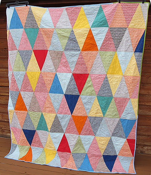 Isosceles Picnic Quilt free quilting pattern