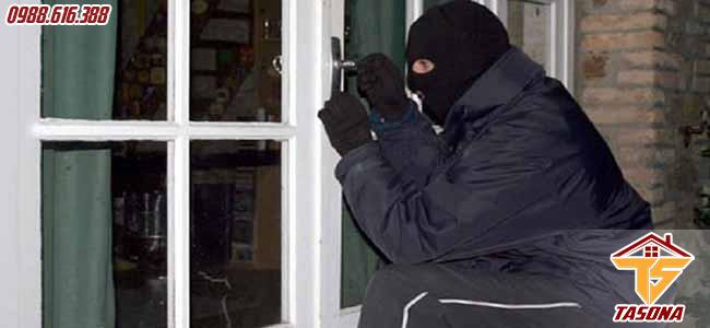 Cửa kính cường lực chống trộm