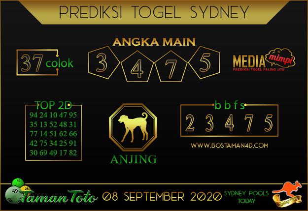Prediksi Togel SYDNEY TAMAN TOTO 08 SEPTEMBER 2020