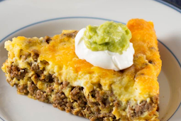 Crustless Low Carb Taco Pie #healthy #recipe