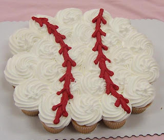 Baseball Cupcake arrangement