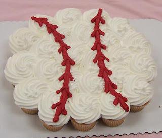Baseball Cupcake arrangement