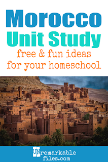 This Morocco unit study is packed with activities, crafts, book lists, and recipes for kids of all ages! Make learning about Morocco in your homeschool even more fun with these free ideas and resources. #Morocco #homeschool