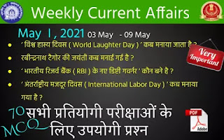 Weekly Current Affairs ( May I , 2021 )