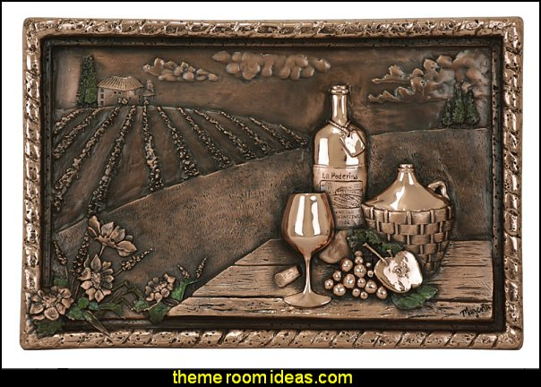 Copper Vineyard View wall art or  Backsplash