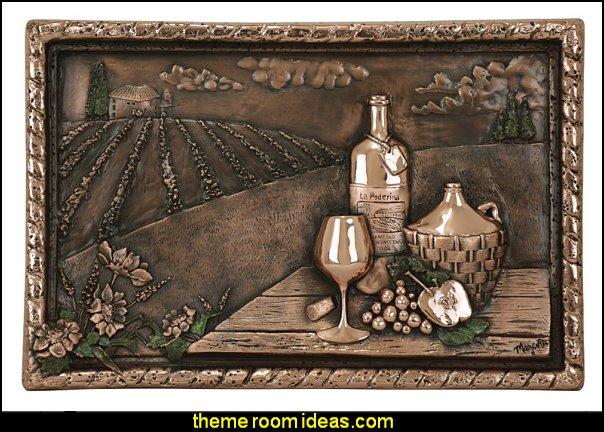 Copper Vineyard View wall art or  Backsplash