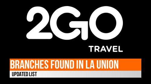 LIST: 2GO Branches/Outlets found in La Union 2020