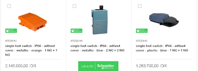 Foot Switch Schneider Electric
