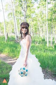 jade burlap and lace bridal bouquet