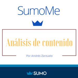 Analítica web con la herramienta de Sumome