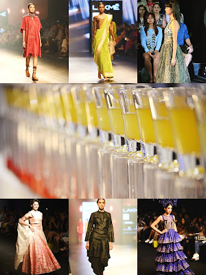 Alesia Raut, colors, red, blue, green, yellow, lakme fashion week 2016, models