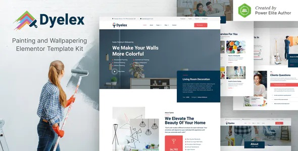 Best Painting & Wallpapering Service Elementor Template Kit