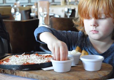 Make your own pizza from the children menu at Newcaslte