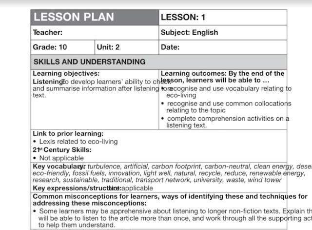 دليل المعلم لغة إنجليزية صف عاشر متقدم فصل أول