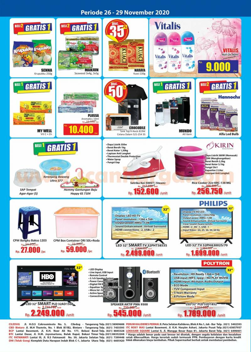 Katalog Promo JSM Hari Hari Swalayan Weekend 26 - 29 November 2020 4