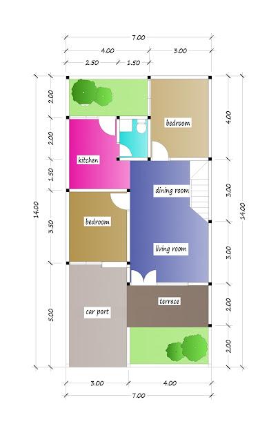 1st floor plan of beautiful house plan 22