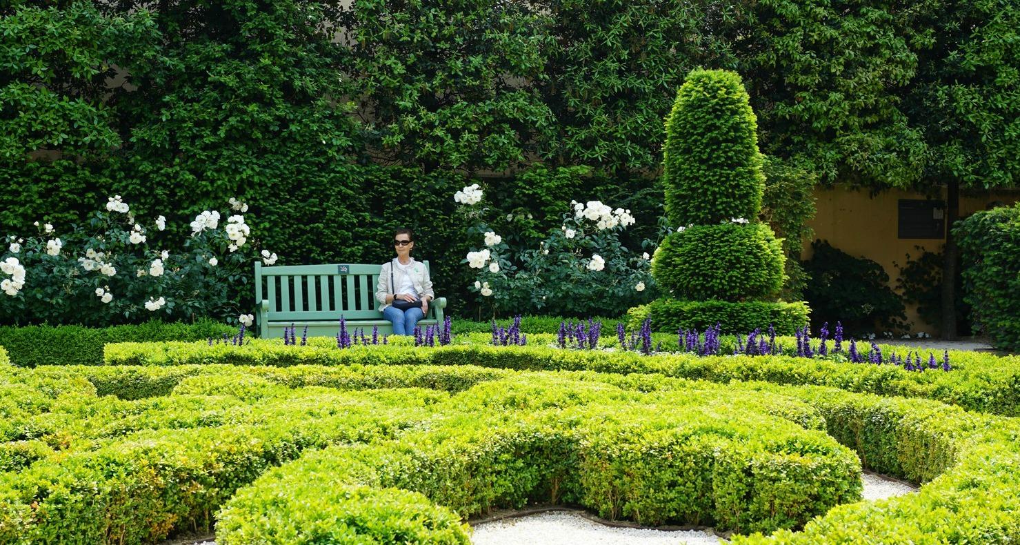 Garden in Hotel de Caumont Aix