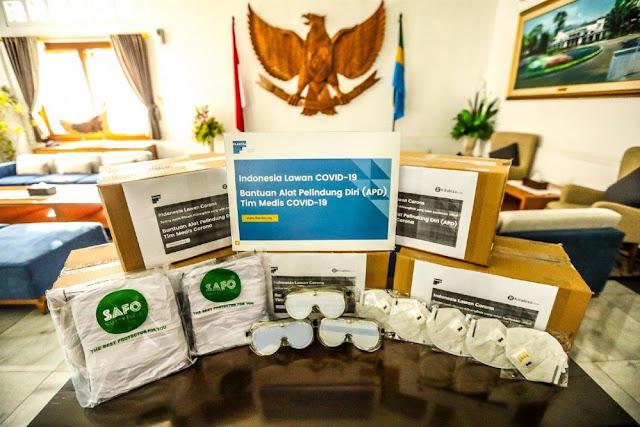 Pemkot Bandung Terima Bantuan APD dari Filantra