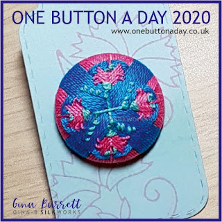 Day 258 : Pinks - One Button a Day 2020 by Gina Barrett