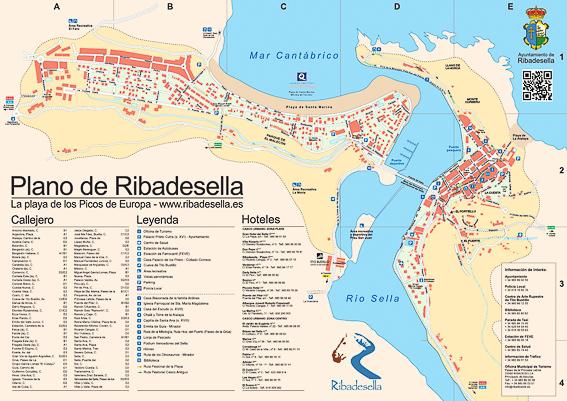 Mapa turistico de Ribadesella