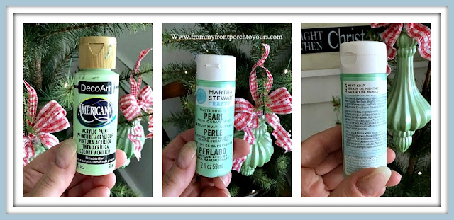 Easy Faux Jadeite Glass Ornaments-Craft Paint-From My Front Porch To Yours