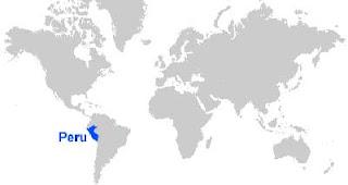 Gambar Peta letak Peru