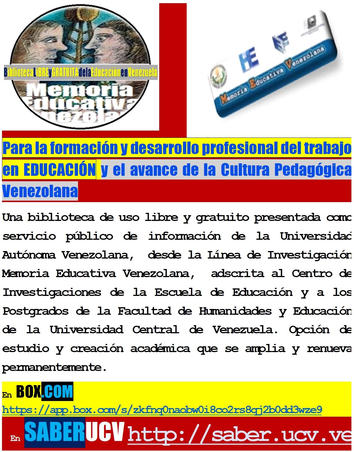 e398f1ba9e Memoria Educativa Venezolana