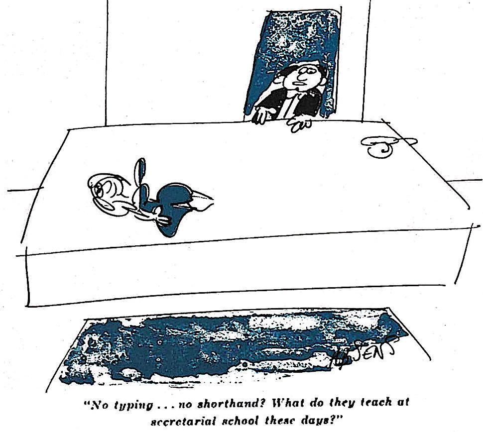 a 1964 men's magazine cartoon about boss and secretary