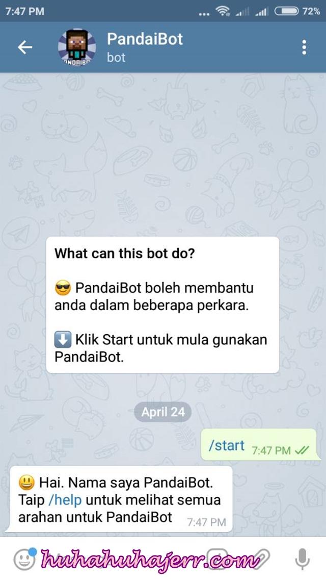 Semak Tracking Poslaju Di Apps Telegram Melalui PandaiBot