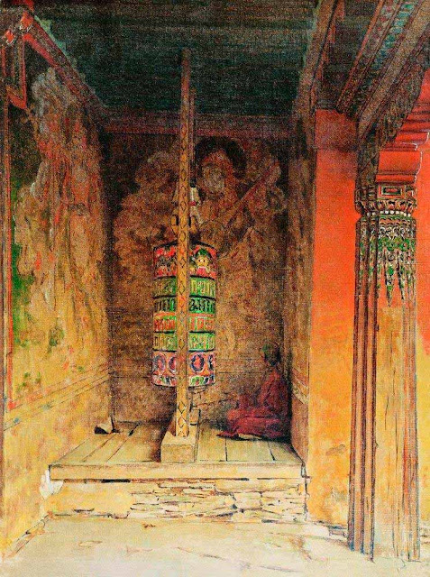 Василий Васильевич Верещагин - Молитвенная машина буддистов. 1875