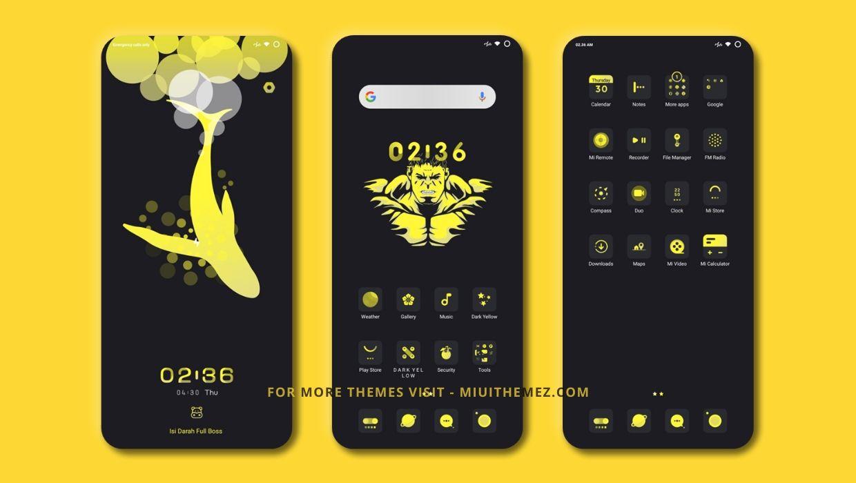 Dark Yellow MIUI Theme