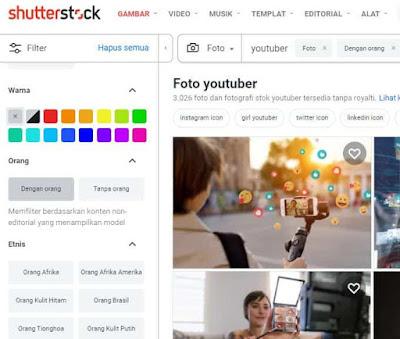 jual foto di Shutterstock