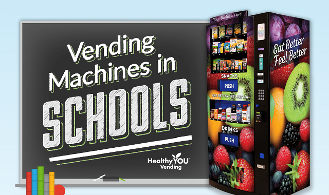 Why should Vending Machines be in schools? #infographic
