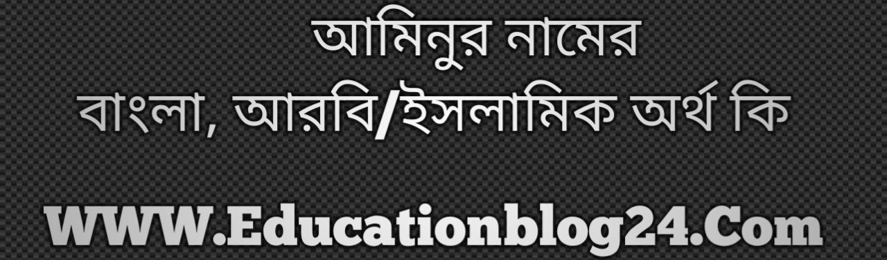 Aminur name meaning in Bengali, আমিনুর নামের অর্থ কি, আমিনুর নামের বাংলা অর্থ কি, আমিনুর নামের ইসলামিক অর্থ কি, আমিনুর কি ইসলামিক /আরবি নাম